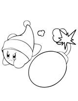Imprimer le coloriage : Kirby, numéro 755412