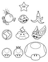 Imprimer le coloriage : Super Mario, numéro 17162