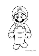 Imprimer le coloriage : Super Mario numéro 3310