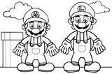Imprimer le coloriage : Super Mario, numéro 672814