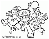 Imprimer le coloriage : Super Mario, numéro 796