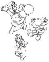 Imprimer le coloriage : Yoshi, numéro d951d494