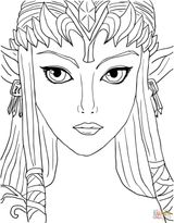 Imprimer le coloriage : Zelda, numéro 12183504