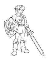 Imprimer le coloriage : Zelda numéro 15191