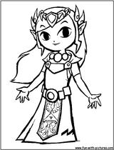 Imprimer le coloriage : Zelda, numéro 15202