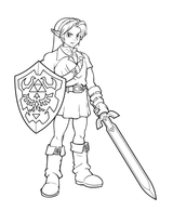 Imprimer le coloriage : Zelda, numéro 1672