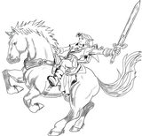 Imprimer le coloriage : Zelda, numéro 17701