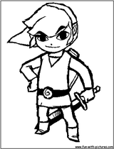 Imprimer le coloriage : Zelda, numéro 2193