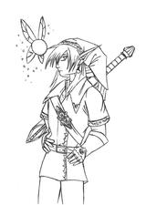 Imprimer le coloriage : Zelda, numéro 2194