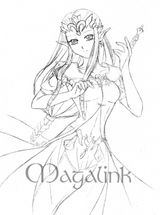 Imprimer le coloriage : Zelda numéro 26857