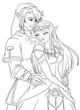 Imprimer le coloriage : Zelda, numéro 29119