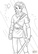 Imprimer le coloriage : Zelda, numéro 3add288e