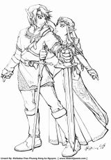 Imprimer le coloriage : Zelda, numéro 60e90091