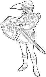 Imprimer le coloriage : Zelda, numéro 6b6589f4