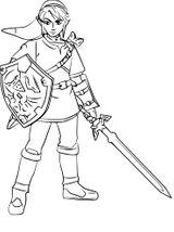 Imprimer le coloriage : Zelda, numéro bd420da4