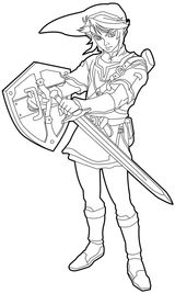 Imprimer le coloriage : Zelda, numéro d14a3003