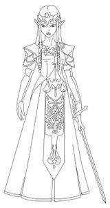 Imprimer le coloriage : Zelda, numéro e9b0e4ee