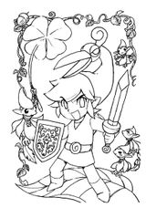 Imprimer le coloriage : Zelda, numéro ed73d6e2