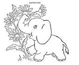 Imprimer le coloriage : Petit Ours brun, numéro 2092