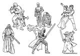 Imprimer le coloriage : Star Wars, numéro 501180