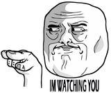 Imprimer le coloriage : I'm Watching You Meme, numéro 162938