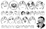 Imprimer le coloriage : Troll face fuuuu, numéro 28367