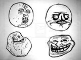 Imprimer le coloriage : Troll face lol, numéro 29170