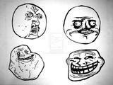 Imprimer le coloriage : Troll face me gusta, numéro 28409