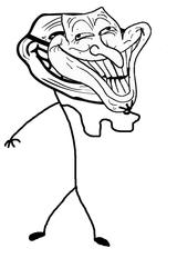 Imprimer le coloriage : Troll face poker, numéro 28362