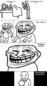 Imprimer le coloriage : Troll face poker, numéro 29198