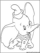 Imprimer le coloriage : Dumbo, numéro 15465