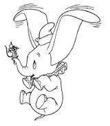 Imprimer le coloriage : Dumbo, numéro 17679