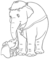 Imprimer le coloriage : Dumbo, numéro 2210