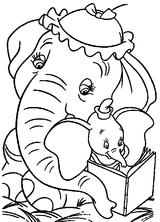 Imprimer le coloriage : Dumbo, numéro 2393