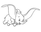 Imprimer le coloriage : Dumbo, numéro 2407