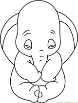 Imprimer le coloriage : Dumbo, numéro 5f10c9c2