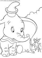 Imprimer le coloriage : Dumbo, numéro 6504