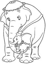Imprimer le coloriage : Dumbo, numéro 9170
