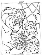 Imprimer le coloriage : La Belle et la Bête, numéro 15327
