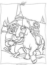Imprimer le coloriage : La Belle et la Bête, numéro 412242