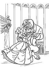 Imprimer le coloriage : La Belle et la Bête, numéro 571394