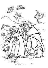 Imprimer le coloriage : La Belle et la Bête, numéro 590670