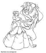 Imprimer le coloriage : La Belle et la Bête, numéro 6431