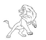 Imprimer le coloriage : Le Roi Lion numéro 7032