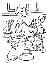 Imprimer le coloriage : Les 101 Dalmatiens, numéro 2326