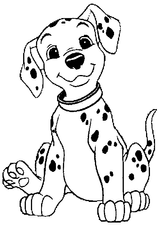 Imprimer le coloriage : Les 101 Dalmatiens, numéro 6461