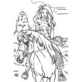 Imprimer le coloriage : Raiponce, numéro 17084