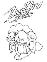 Imprimer le coloriage : Zhu Zhu Pets, numéro 83d42e49
