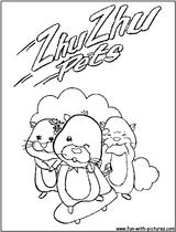 Imprimer le coloriage : Zhu Zhu Pets, numéro bada4f74