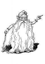 Imprimer le coloriage : Personnages féeriques, numéro 8739